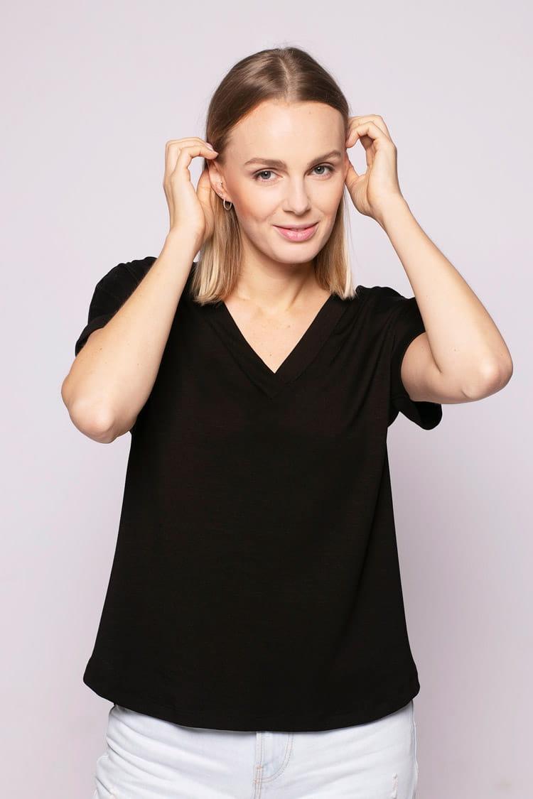 T-shirt Miss Loose Black