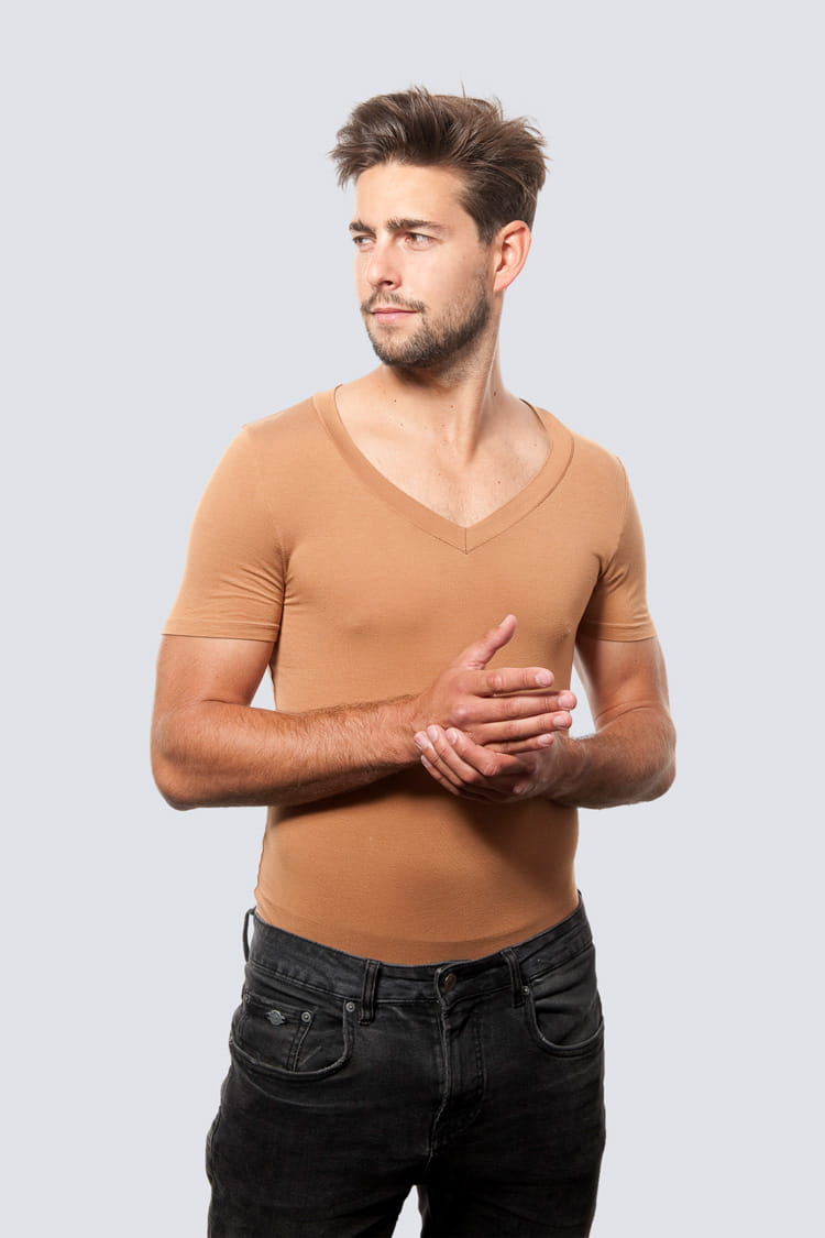 T-shirt Mr Invisible Caramel