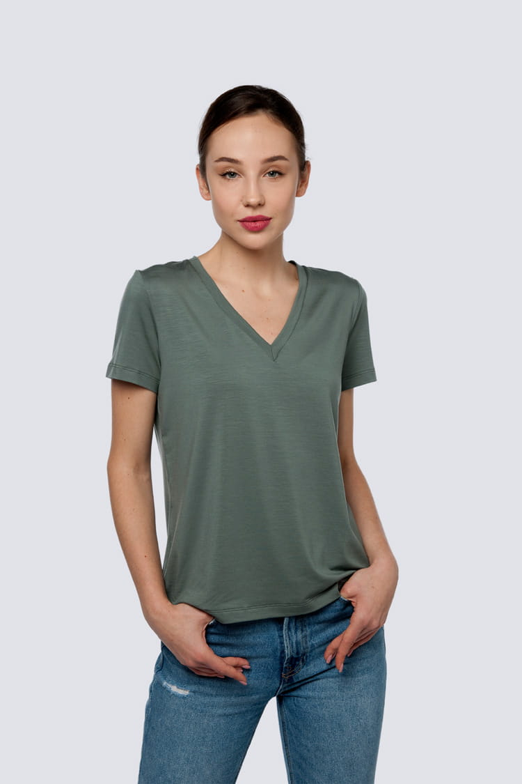 T-shirt Miss Classic Grey Green